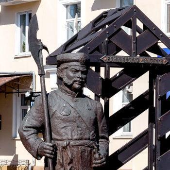 Памятник постовому Романовской заставы